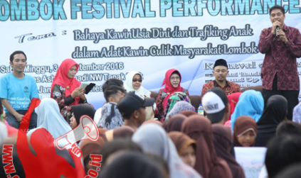 Cegah Pernikahan Dini, LRS Gelar Lombok Festival Performance